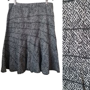 Chapter one black and white a-line midi skirt